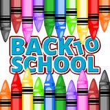Colorful pencil crayons - Back To School Royalty Free Stock Photo