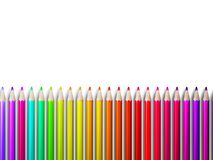 Colorful pencil crayons on white. plus EPS10 Stock Photos
