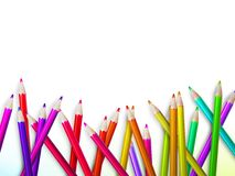 Colorful pencil crayons on white. plus EPS10 Royalty Free Stock Photography