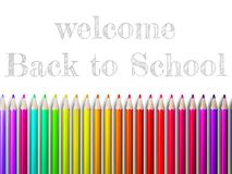 Colorful pencil crayons on white. plus EPS10 Royalty Free Stock Photos