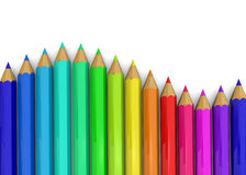 Colorful Pencil - 3D. Colorful Pencil on white background Stock Photography