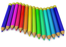 Colorful Pencil - 3D Royalty Free Stock Photos
