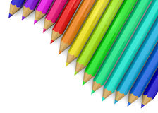 Colorful Pencil - 3D. Colorful Pencil on white background Stock Photos