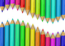 Colorful Pencil - 3D. Colorful Pencil on white background Stock Photo