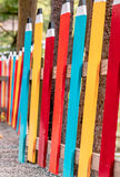 Colorful Pencil Fence Royalty Free Stock Image