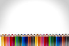 Colorful Pencil Frame 05 Royalty Free Stock Images