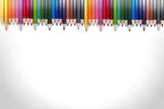Colorful Pencil Frame 09 Royalty Free Stock Photos