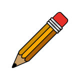 Colorful pencil icon stock Royalty Free Stock Image