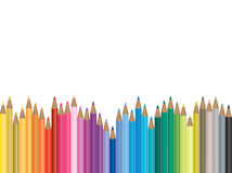 Colorful pencil illustration Stock Image