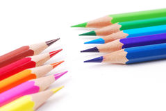 Colorful pencil. On isolate bakground Stock Photos