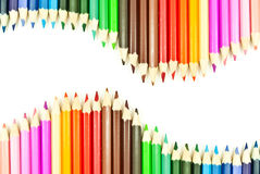Colorful pencil isolated on the white background. Stock Image