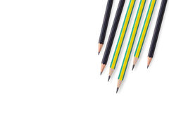 Colorful pencil isolated on a white background Royalty Free Stock Images