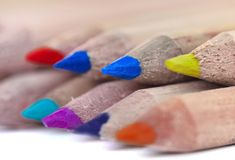 Colorful pencil leads Stock Photography