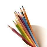 Colorful pencil in mug Royalty Free Stock Photos