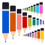 Colorful Pencil, Multi colored pencils set Stock Photo