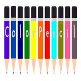 Colorful Pencil, Multi colored pencils set Stock Photography
