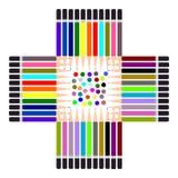 Colorful Pencil, Multi colored pencils set Stock Images