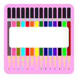 Colorful Pencil, Multi colored pencils set Royalty Free Stock Photos