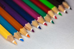 Colorful pencil on paper Royalty Free Stock Photo