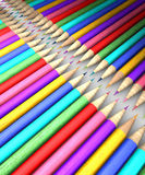 Colorful pencil row Royalty Free Stock Photography
