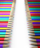 Colorful pencil row Royalty Free Stock Photo