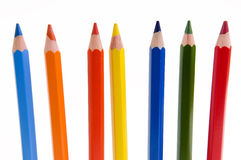 Colorful Pencil's. Colorful pencil on white background Royalty Free Stock Photography