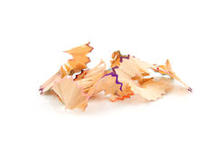 Colorful pencil shavings Royalty Free Stock Photography