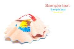 Colorful pencil shavings Stock Photos