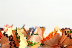 Colorful pencil shavings Royalty Free Stock Photos