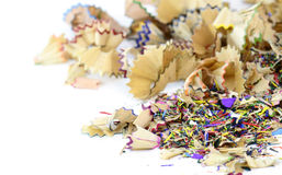 Colorful pencil shavings Stock Photos