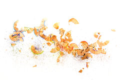 Colorful pencil shavings, on white Stock Image