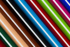 Colorful pencil stripes background Royalty Free Stock Images