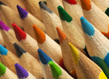 Colorful pencil tips Royalty Free Stock Image