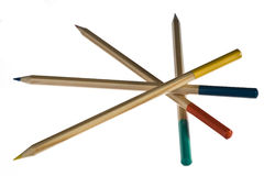 Colorful pencils. On white background Stock Image