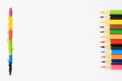 Colorful pencils. On a white background Stock Photography