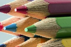 Colorful pencils. Macro Royalty Free Stock Images