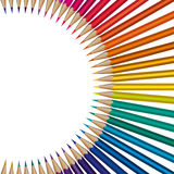 Colorful pencils. Set as vector illustration Stock Images