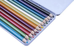 Colorful Pencils. On the isolated background Royalty Free Stock Image
