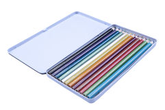 Colorful Pencils. On the isolated background Royalty Free Stock Photo