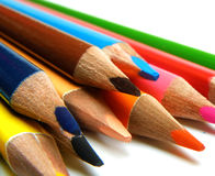 Colorful pencils Stock Photos