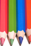 Colorful pencils. On white background Royalty Free Stock Photos