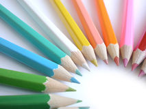 Colorful pencils stock image