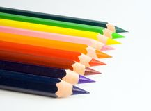 Colorful pencils. Isolated Stock Photos