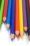 Colorful pencils. Pencils on white, shallow dof Royalty Free Stock Photos