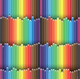 Colorful pencils arranged as seamless background Stock Photography