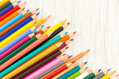Colorful pencils background pattern. Creativity abstract Royalty Free Stock Photos