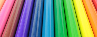 Colorful pencils bars. Close up image Stock Image