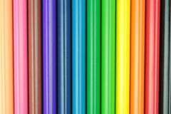 Colorful pencils bars. Close up image Stock Images