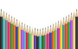 Colorful pencils border Royalty Free Stock Photos