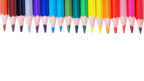 Colorful Pencils Border Stock Photo